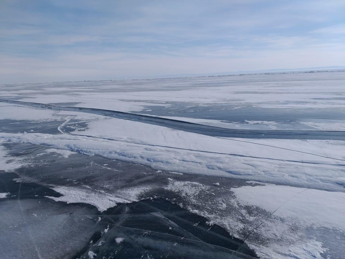 МЧС о ледовой обстановке на озере Байкал